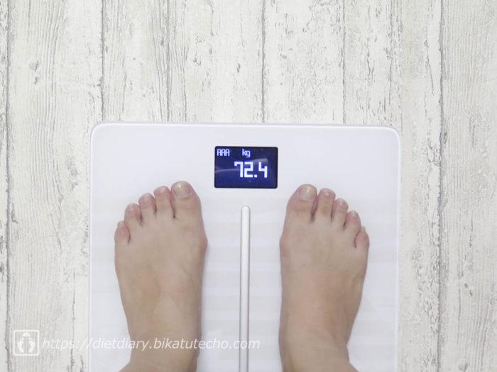 2017年5月28日夜の体重