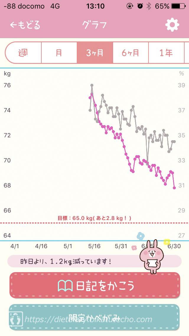 2017年6月30日時点のグラフ