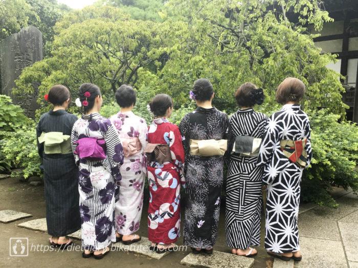 鎌倉で浴衣を着る