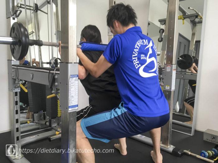 スクワット(2017年7月6日のトレーニング)