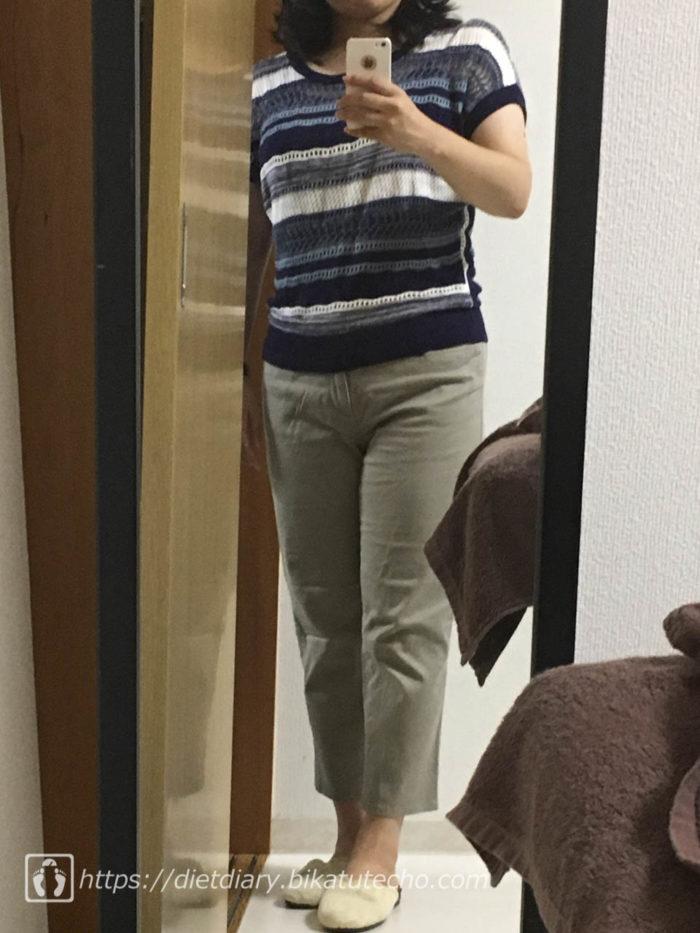 20170819-2年前によく着てたコムサのパンツ